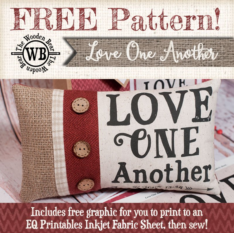 FREE Love One Another Pillow & Bag Pattern & Graphics