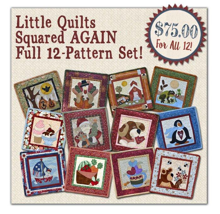 (LQSET2)   Little Quilts Squared AGAIN 12 Pattern SET