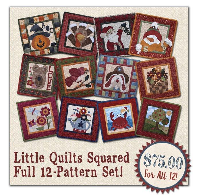 (LQSET1)   Little Quilts Squared 12 Pattern SET