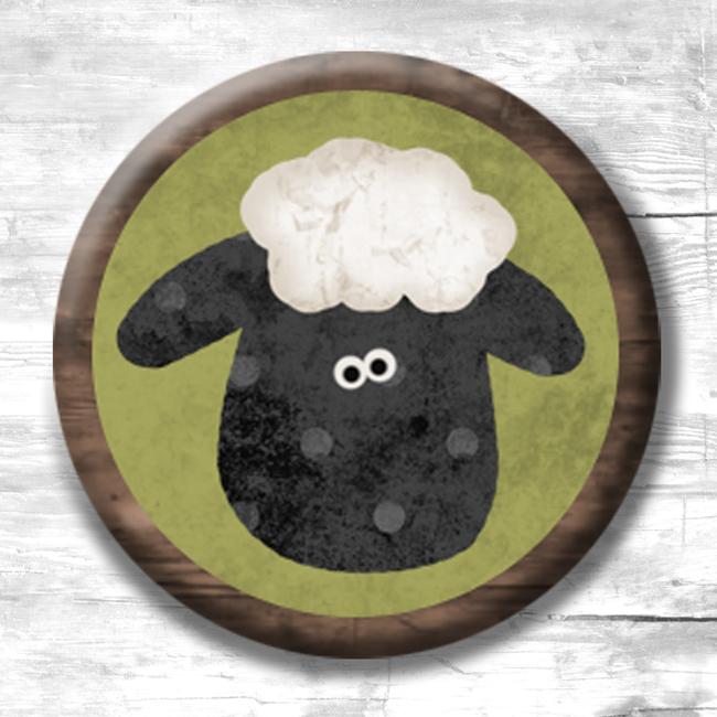 (TWBMShepherd3)   MINI 1 Sheep Magnets - 3