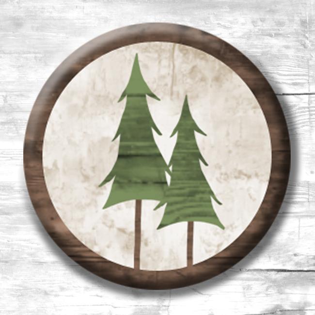 (TWBMBeSappy3)   MINI 1 Evergreen Tree Magnets - 3