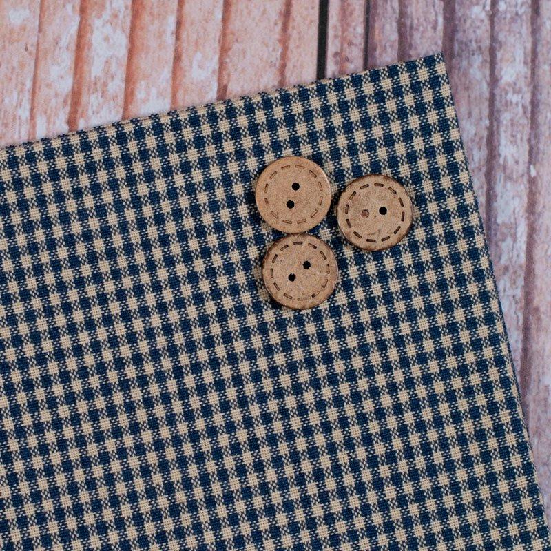 (DUN-736-23)   Navy Minicheck Tea Towel