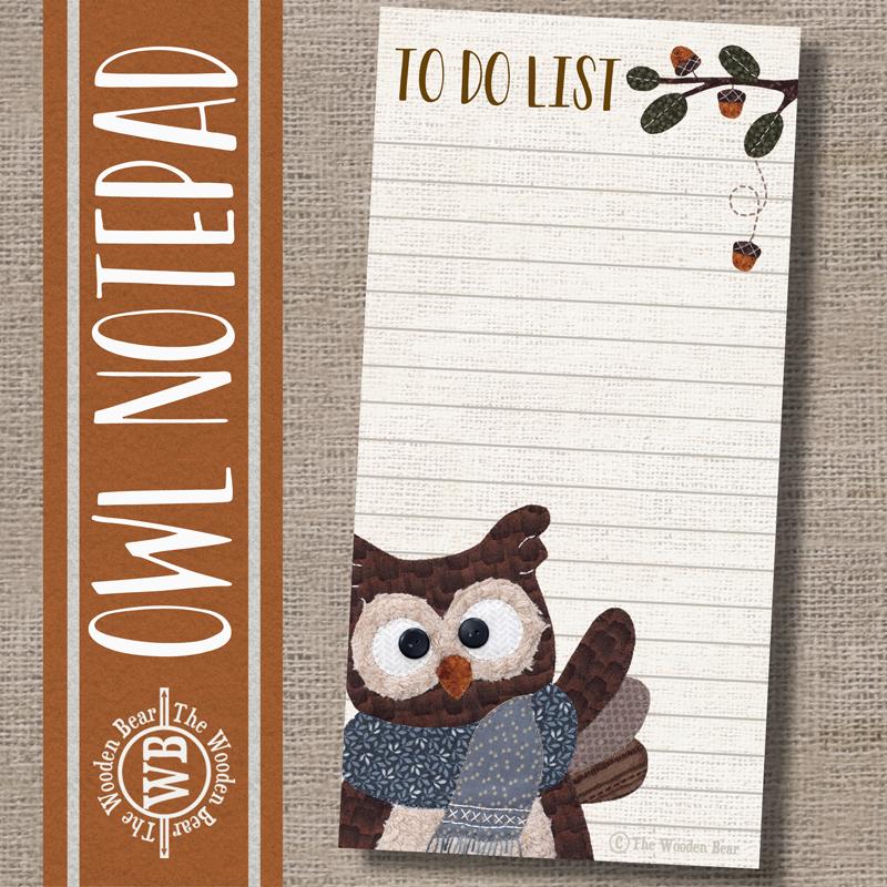 (TWBN14)   Owl Notepad