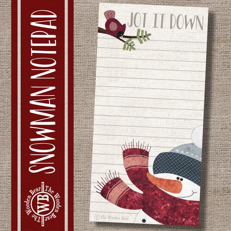 (TWBN13)   Snowman Notepad