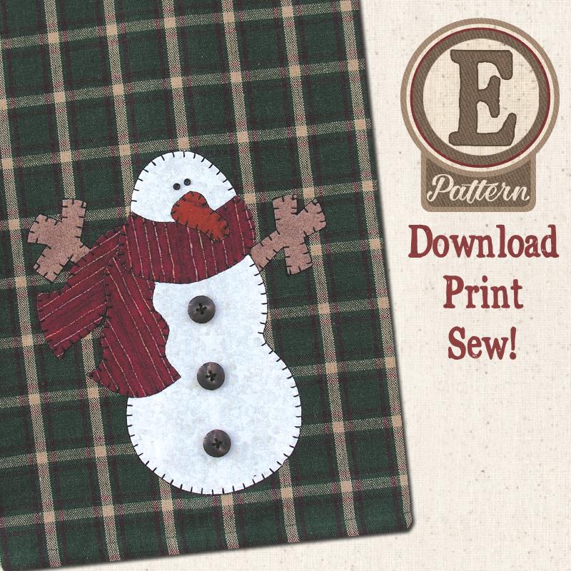 (TWB-EP01)   E-pattern P01 Snowman Patternlet