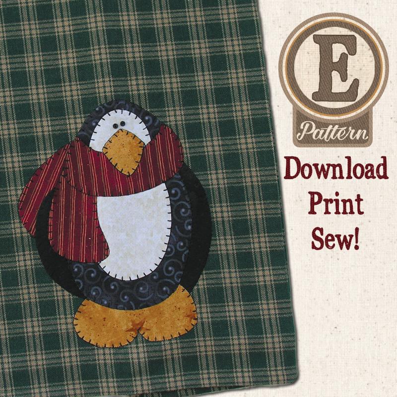 (TWB-EP02)   E-pattern P02 Penguin Patternlet