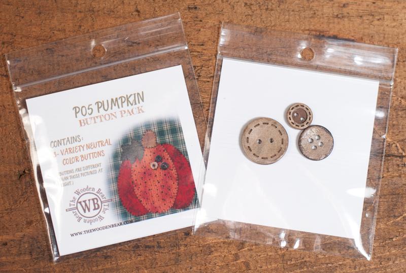 (TWB-BP05)   Pumpkin Patternlet Button Pack