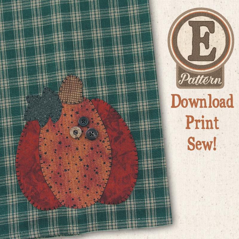 (TWB-EP05) E-pattern P05 Pumpkin Patternlet