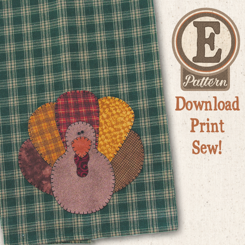 (TWB-EP06)   E-pattern P06 Turkey Patternlet