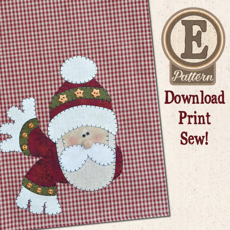 (TWB-EP17)   E-pattern P17 Santa Patternlet