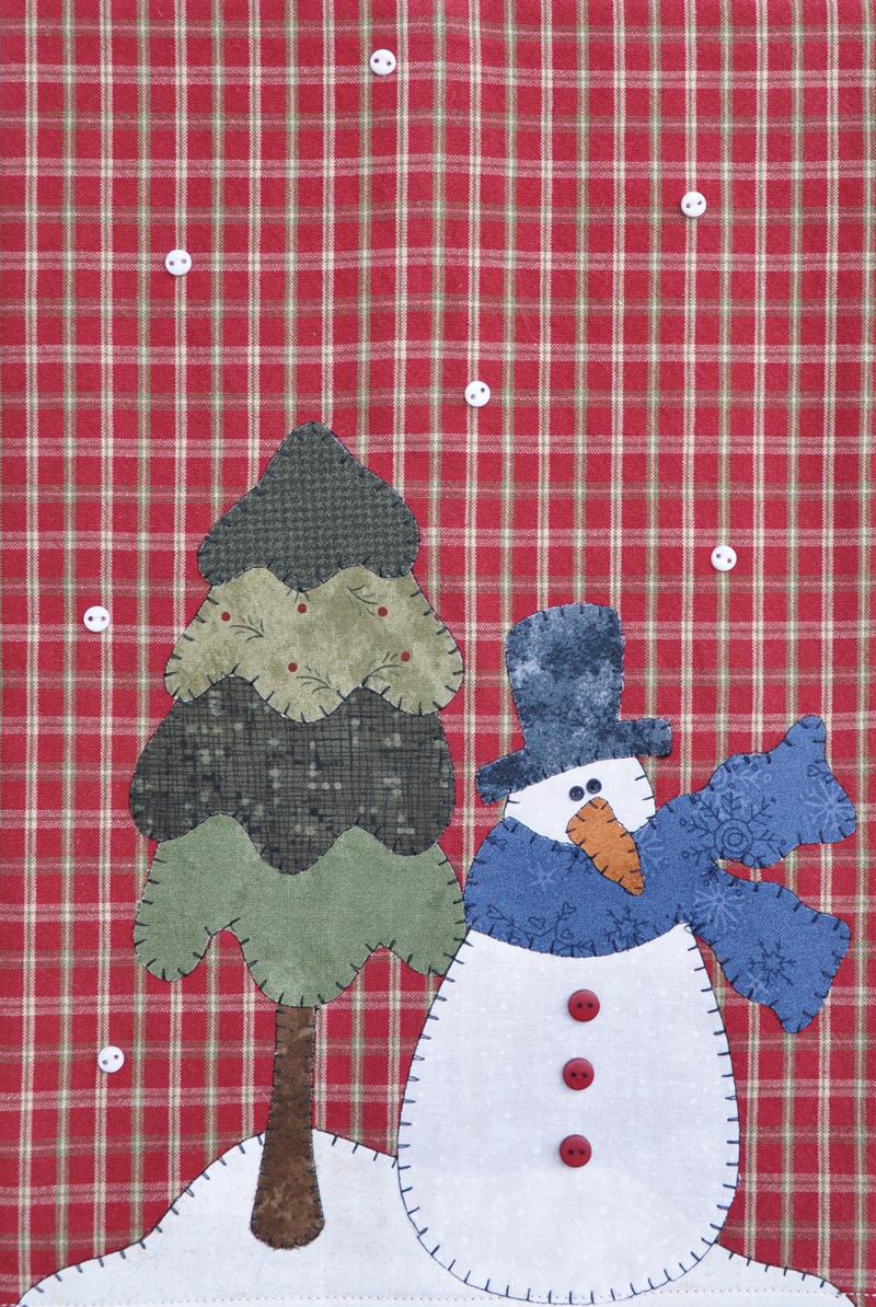 (TWBP18)   Snowman & Tree Patternlet
