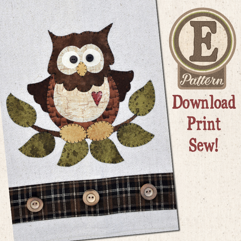 (TWB-EP26)   E-pattern P26 Little Hoot Owl