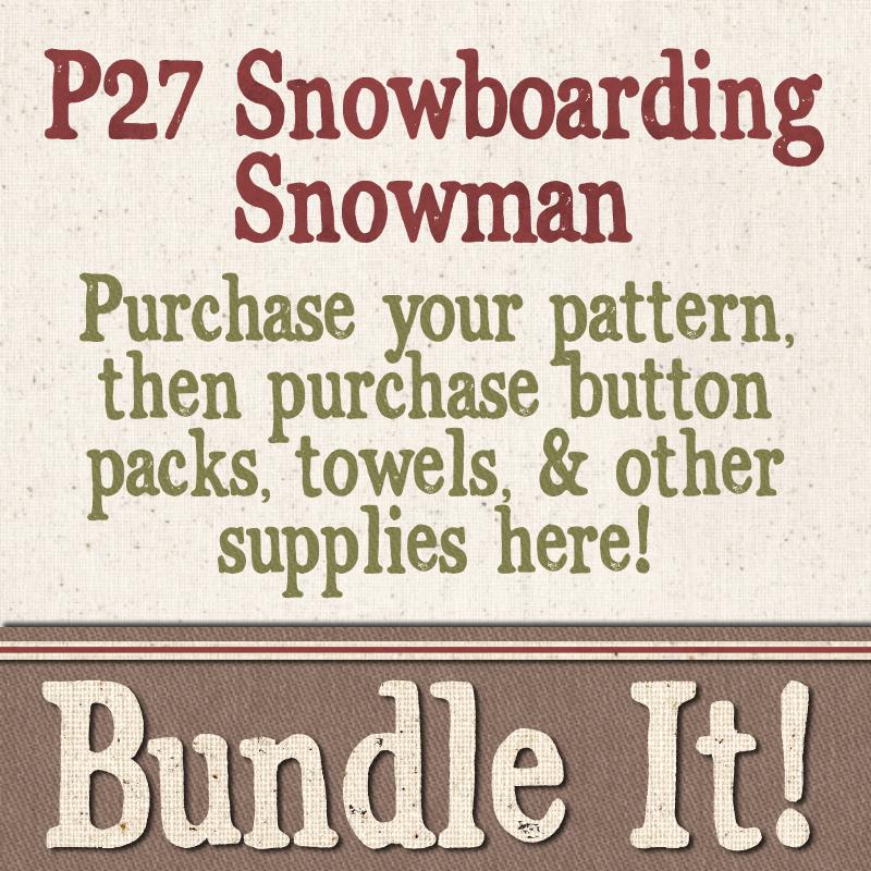 (BUNDLE-P27)   Bundle It for P27 Snowboarding Snowman