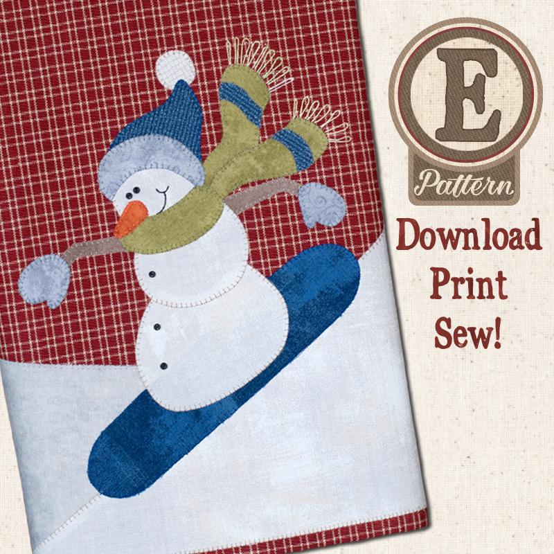 (TWB-EP27)   E-pattern P27 Snowboarding Snowman Patternlet