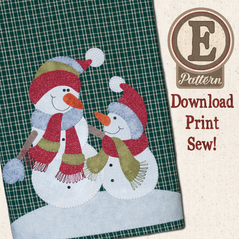 (TWB-EP28)   E-pattern P28 Snowman and Son Patternlet