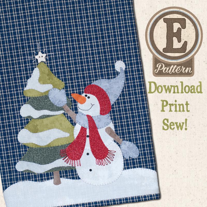 (TWB-EP29)   E-pattern P29 Joyful Snowman Patternlet