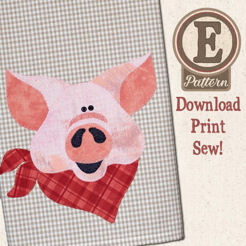 (TWB-EP33)  E-pattern P33 Pig Patternlet