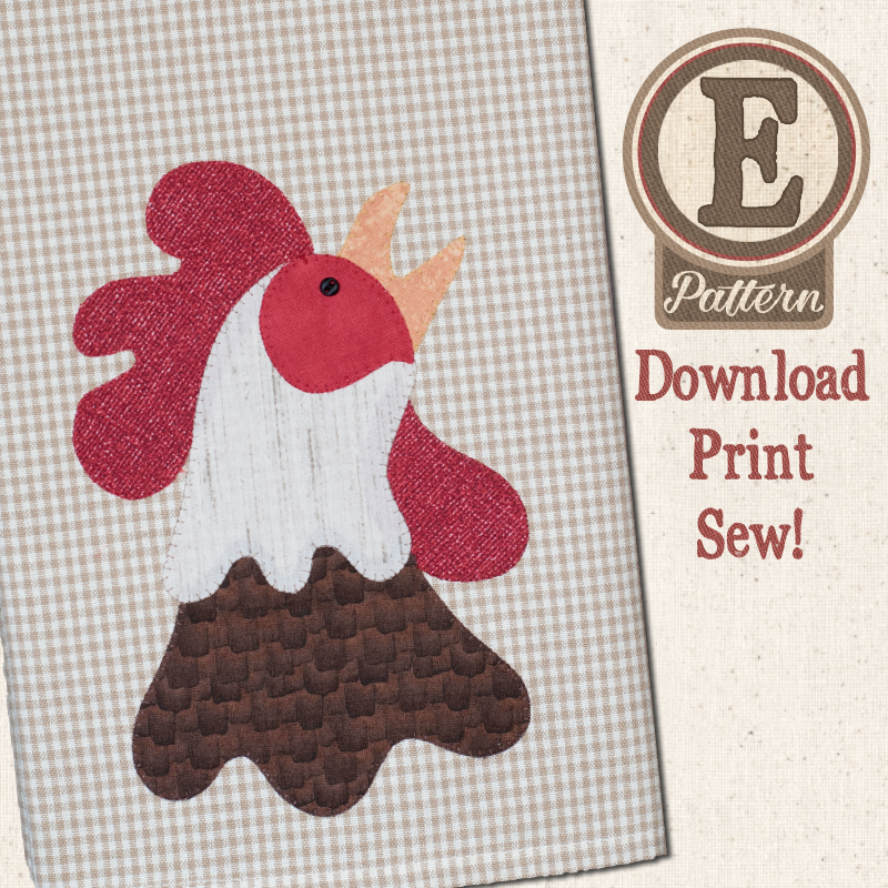 (TWB-EP34)   E-pattern P34 Rooster Patternlet