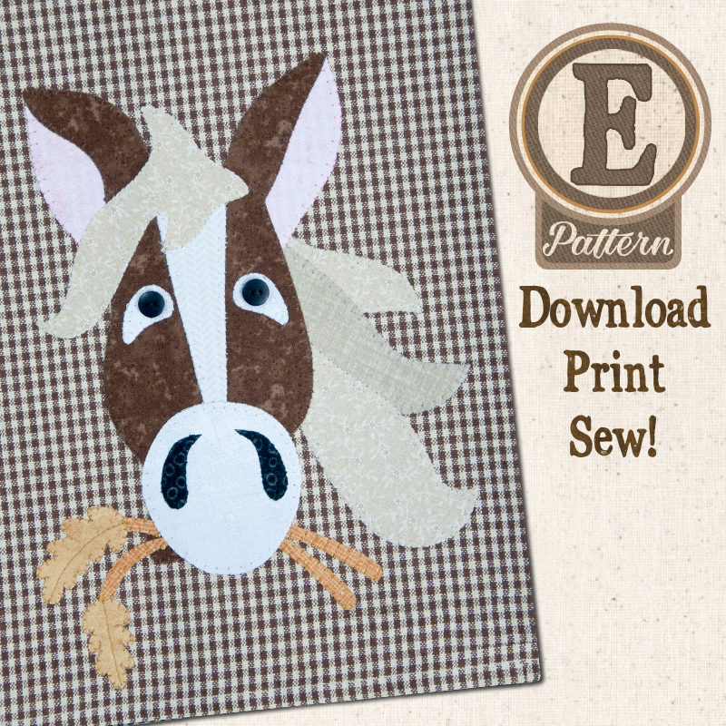 (TWB-EP37)   E-pattern P37 Horse Patternlet