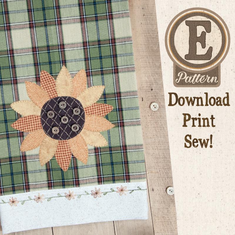 (TWB-EP38)   E-pattern P38 Sunflower Patternlet