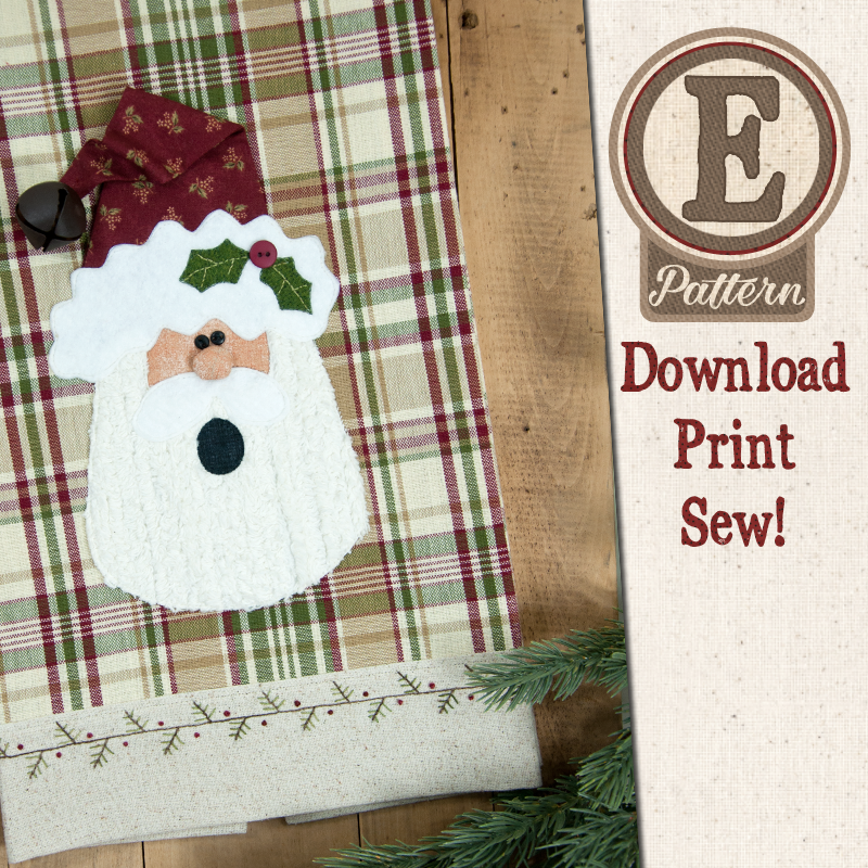 (TWB-EP40)   E-pattern P40 Holly Jolly Santa Patternlet