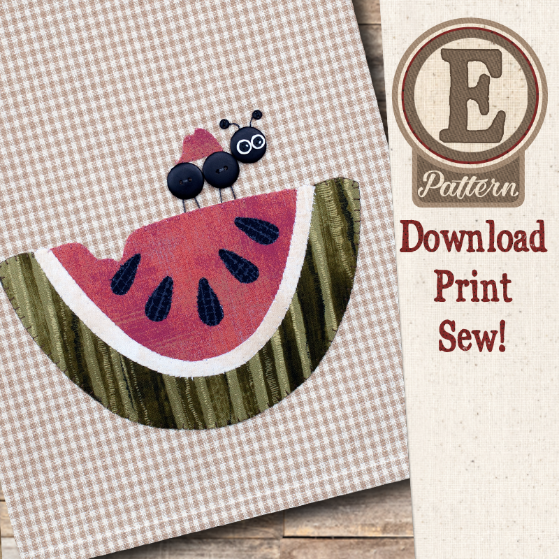 (TWB-EP41)   E-pattern P41 Watermelon Patternlet