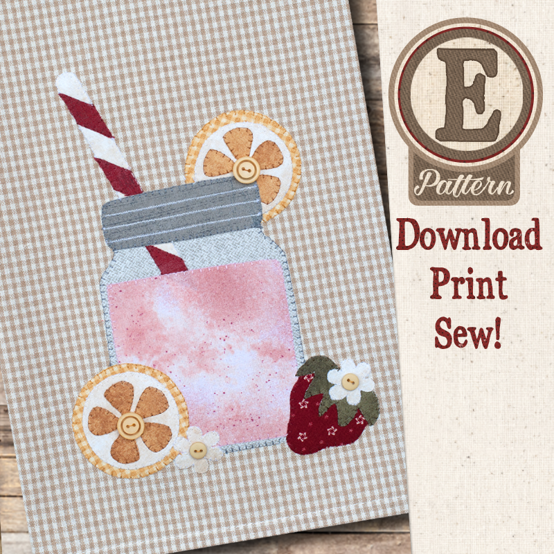 (TWB-EP42)   E-pattern P42 Strawberry Lemonade Patternlet