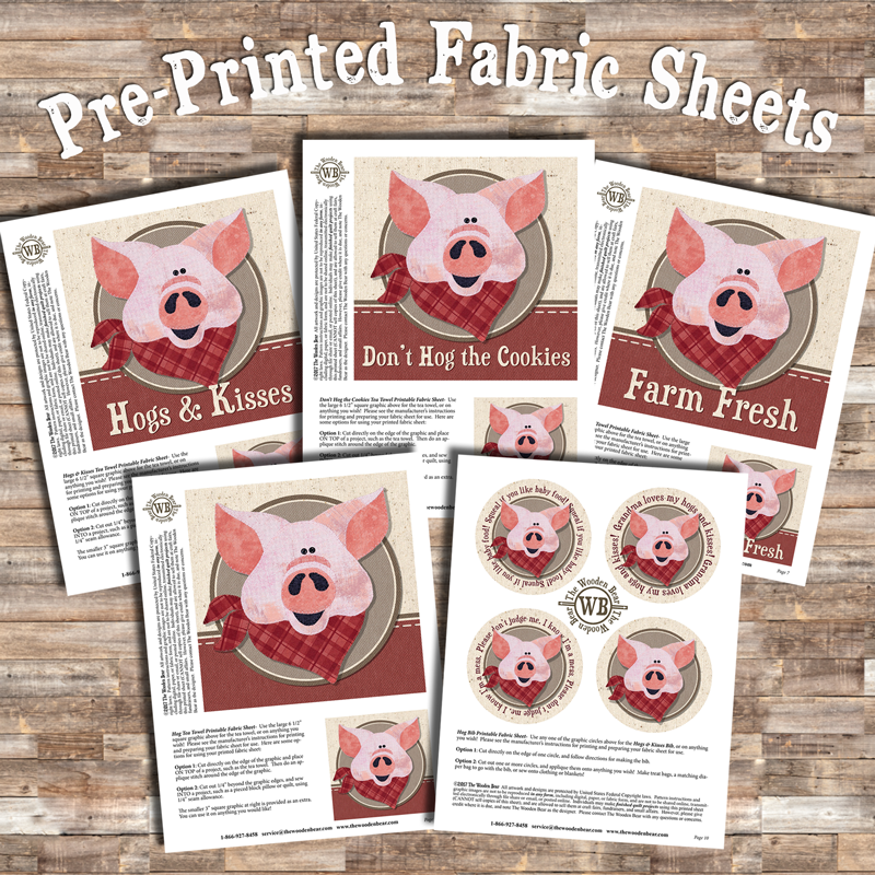 Hog Printed Fabric Sheets