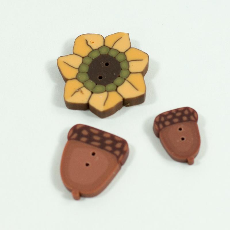 (JABC-9438.G)   Pumpkin Spice Pincushion Button Pack
