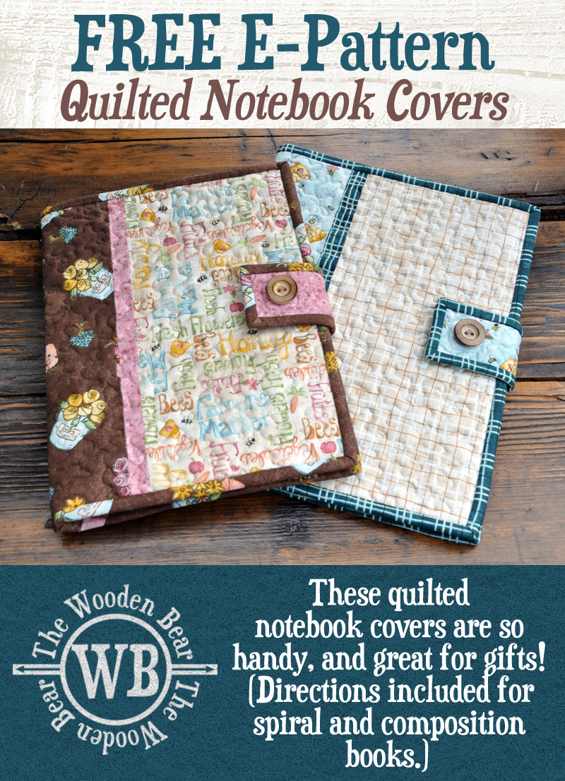 Quilted Notebooks Covers
