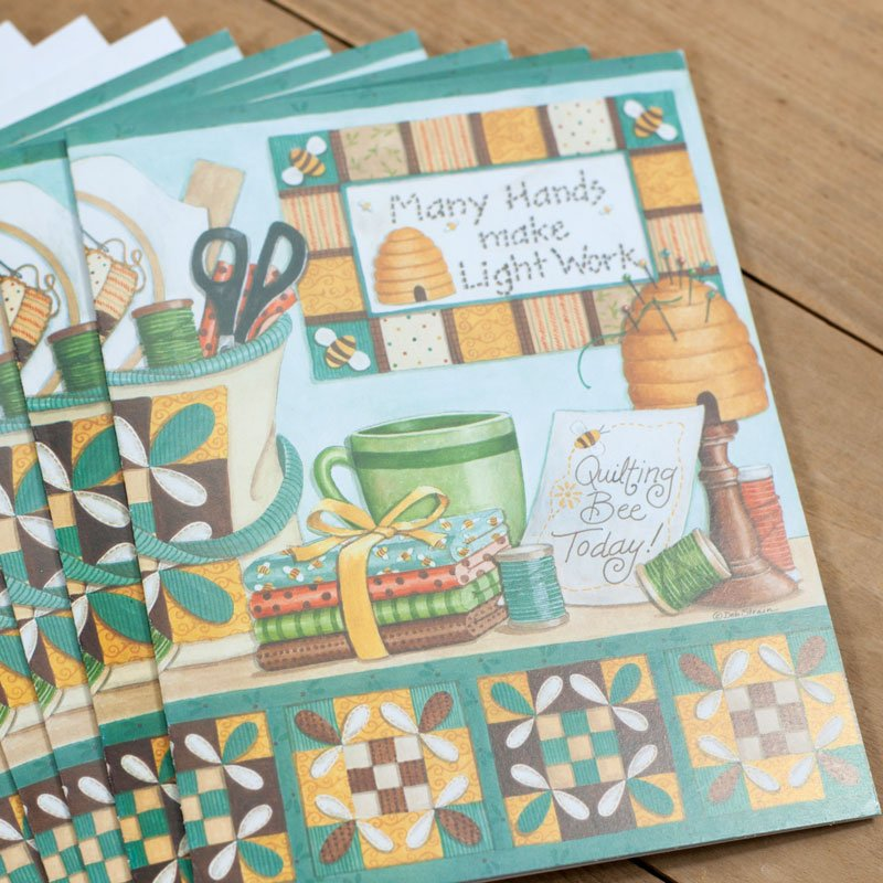 (DS-SN102)   Quilting Day Notecards
