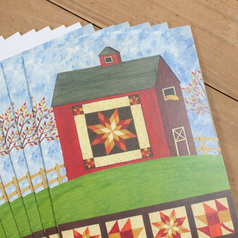(DS-SN113)   Red Quilt Barn Notecards