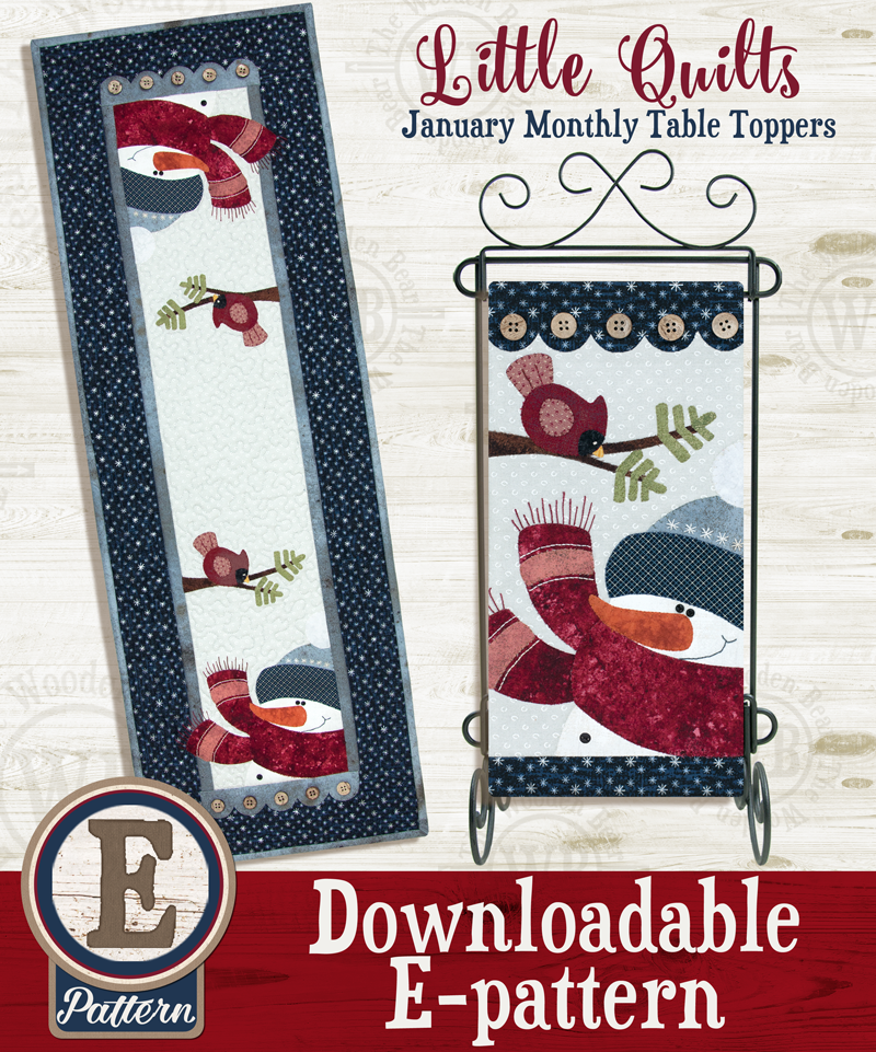 (TWB-ET01)  E-pattern T01 January Blizzard Buddies Monthly Table Topper