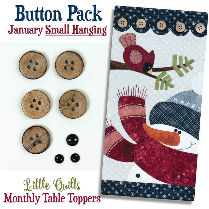 (JABC-BT01)  T01 Button Pack January SMALL HANGING
