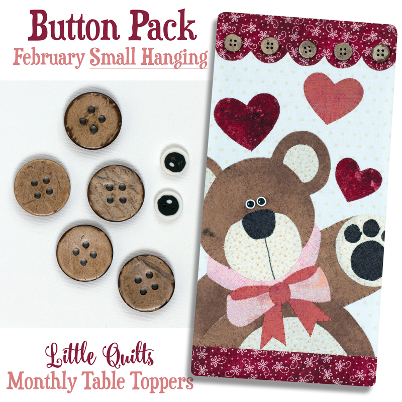 (JABC-BT02)   T02 Button Pack February SMALL HANGING