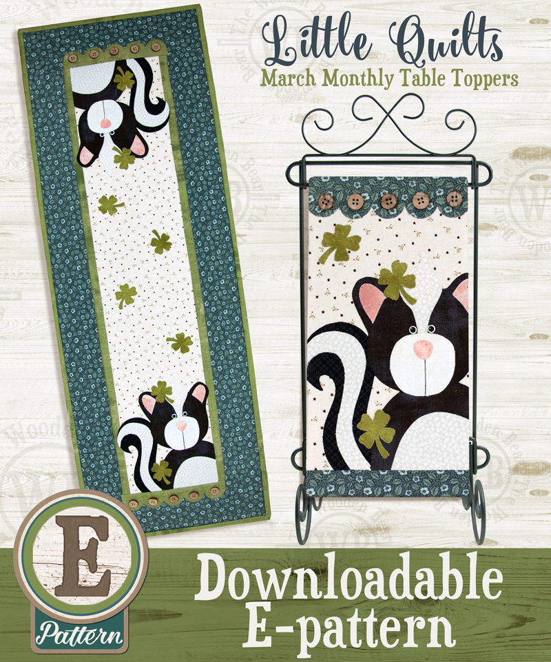 (TWB-ET03)   E-pattern T03 March Just My Luck Monthly Table Topper