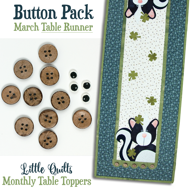 T03 Button Pack March TABLE RUNNER
