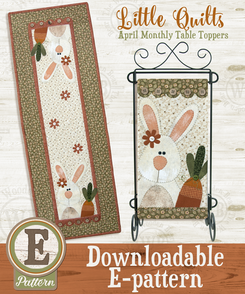 E-pattern T04 April Carrot Tops Monthly Table Topper