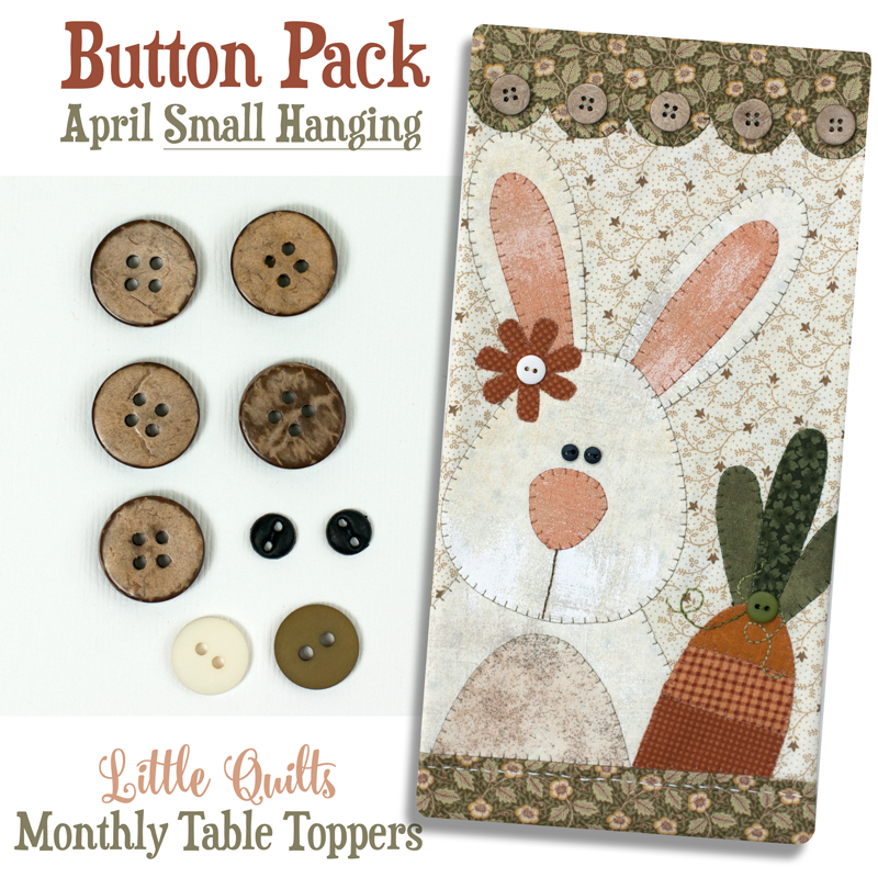 (JABC-BT04)   Button Pack April SMALL HANGING