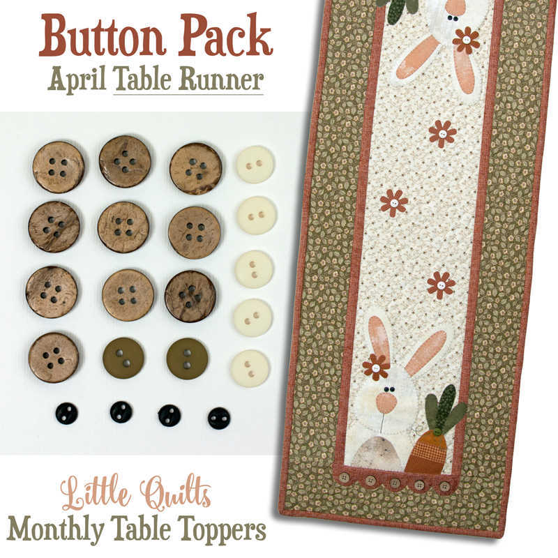 T04 Button Pack April TABLE RUNNER