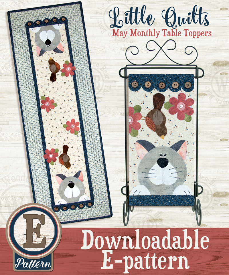 (TWB-ET05)   E-pattern T05 May Cattin' Around Monthly Table Topper
