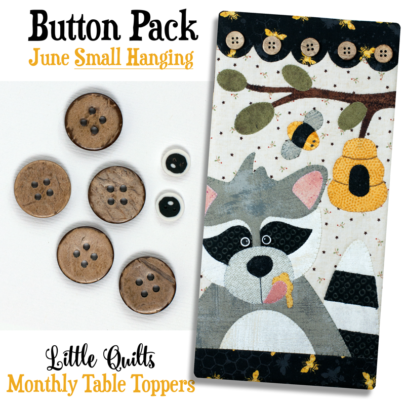 (JABC-BT06)    Button Pack June SMALL HANGING