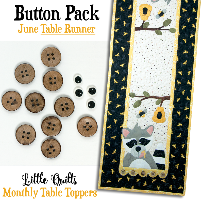 (JABC-BT06-2)   Button Pack June TABLE RUNNER