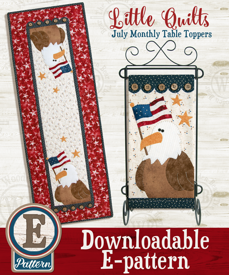 (TWB-ET07)   E-pattern T07 July Eagle Salute Monthly Table Topper