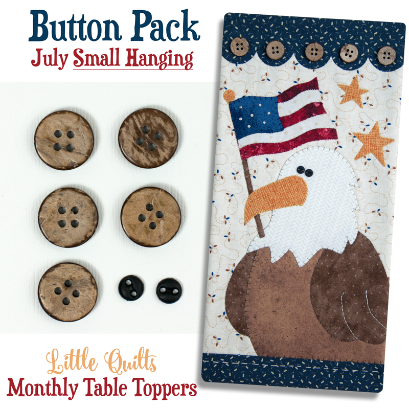 (JABC-BT07)   Button Pack July SMALL HANGING