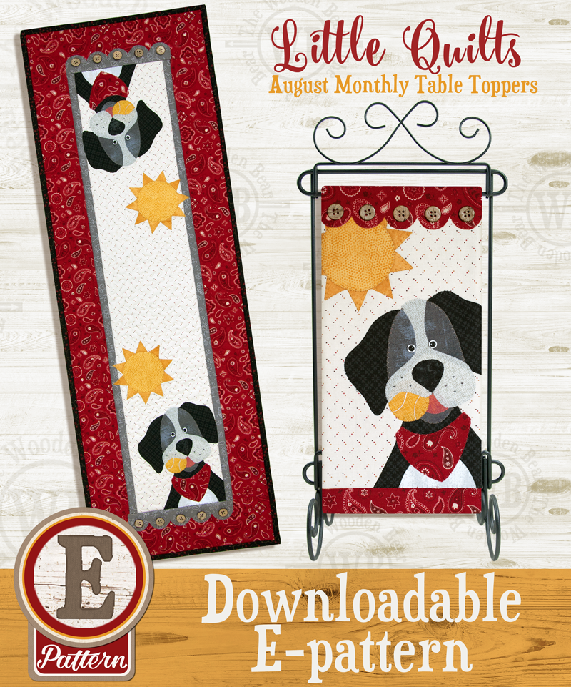 (TWB-ET08)   E-pattern T08 August Dog Days Monthly Table Topper