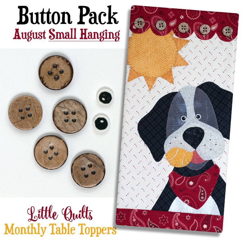 (JABC-BT08)   Button Pack August SMALL HANGING