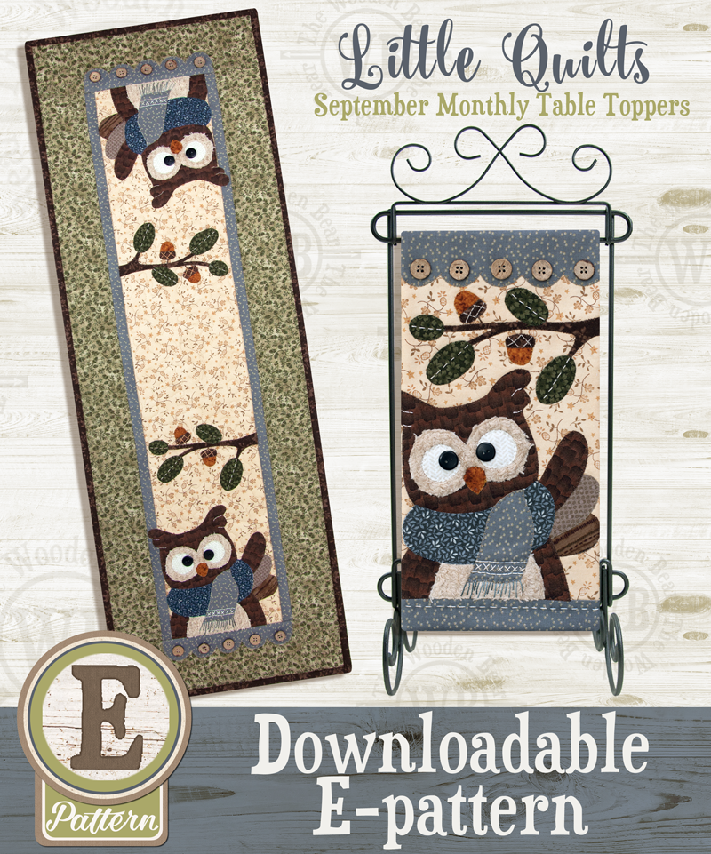 (TWB-ET09)   E-pattern T09 September Hoot & Holler Monthly Table Topper