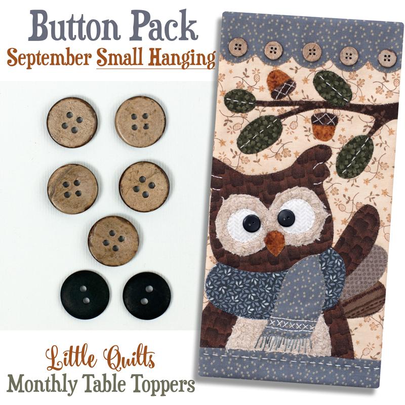 (JABC-BT09)   Button Pack September SMALL HANGING