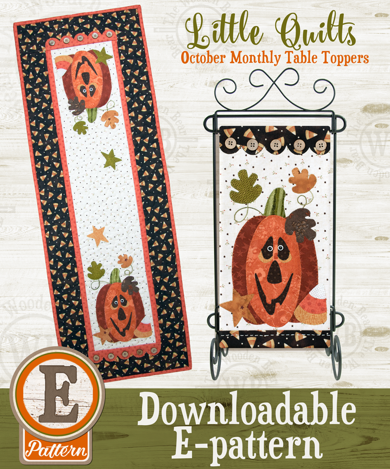 (TWB-ET10)   E-pattern T10 October Halloween Treat Monthly Table Topper